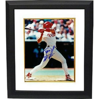 Darren Daulton signed Philadelphia Phillies 8x10 Photo Custom Framed (right side view batting)