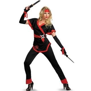 Disguise Ninja Dragon Female Adult Costume - Black/Red