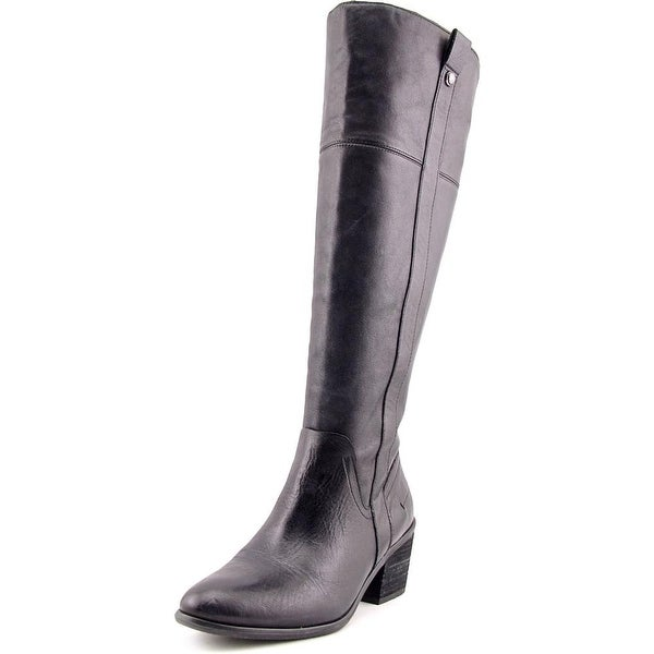Vince Camuto Mordona Women Round Toe Leather Black Knee High Boot