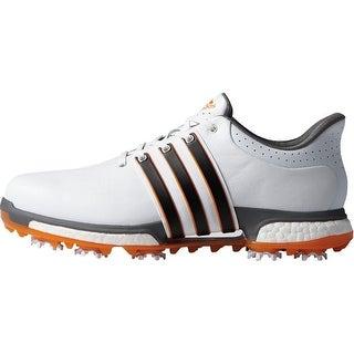 Adidas Men's Tour 360 Boost FTWR White/Core Black/Unity Orange Golf Shoes  F33482