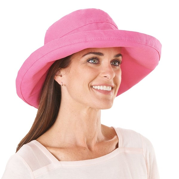 ae912f88b559b Shop Women s Protective Big Brim Cotton Hat - Sea Rose Pink - Free Shipping  On Orders Over  45 - Overstock - 15929311