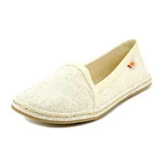 Rocket Dog Wavey Women Round Toe Canvas Ivory Flats