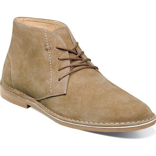 Nunn Bush Men's Galloway Chukka Boot Beige Suede
