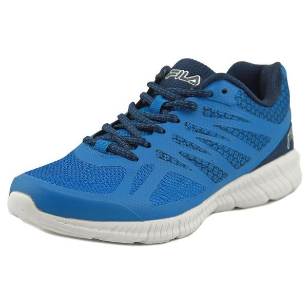 Fila Memory Speedstride Men Round Toe Synthetic Blue Running Shoe