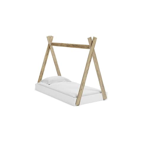 Piperton Two-tone Natural/White Complete Bed in Box