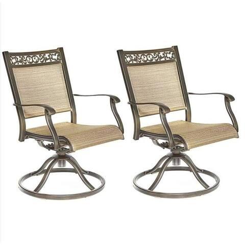 Moda Outdoor Alum sling swivel rocker chair