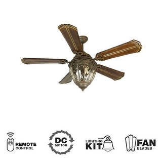 """Craftmade K10523 Olivier 56"""" 5 Blade DC Indoor Ceiling Fan - Blades, Remote and Light Kit Included"""