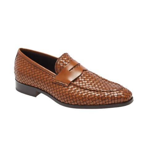 To Boot New York Mens Rapallo Woven Dress Shoes 11.5 M Brandy - Made In Italy