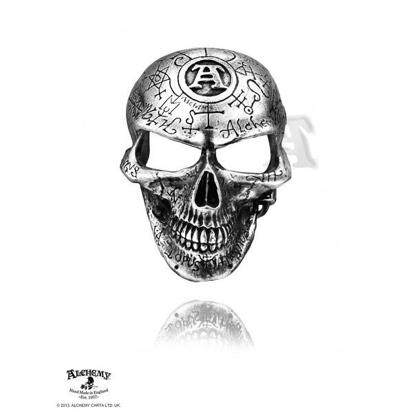 Alchemy Gothic Omega Skull Buckle