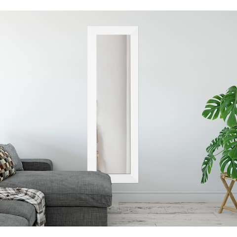 All White Wall Mirror