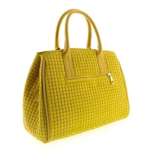 HS2076 GL SASA Yellow Leather Satchel/Shoulder Bag