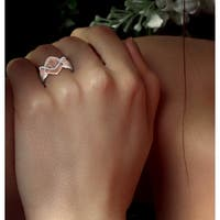 Prism Jewel 0.06Ct Brown Color Diamond with Diamond Effect Engagement Ring