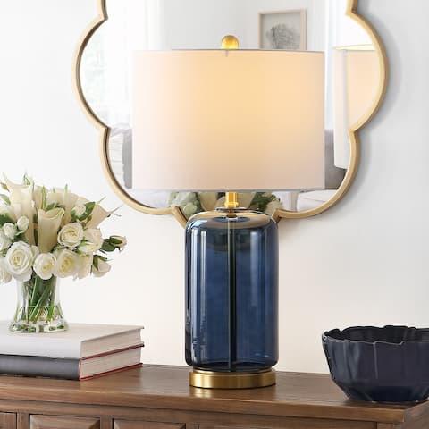 """SAFAVIEH Lighting 26-inch Novah Ceramic Table Lamp - 14"""" x 14"""" x 26"""""""