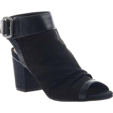 Madeline Women's Sassitude Open Toe Bootie Black Textile