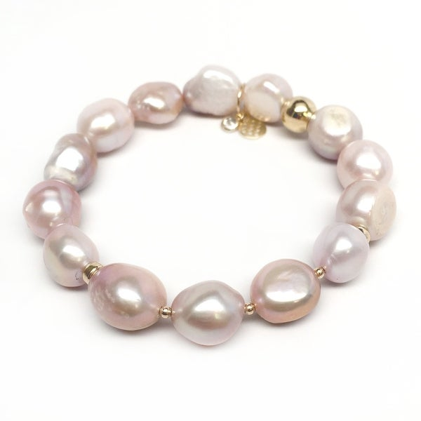 "Pink Baroque Pearl Sophia 7"" Bracelet"