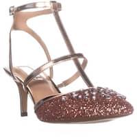 I35 Carma5 Rhinestone Pointed Toe Sandals, Rose Gold