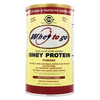 Solgar Whey To Go Protein Powder Natural Vanilla Flavor 12