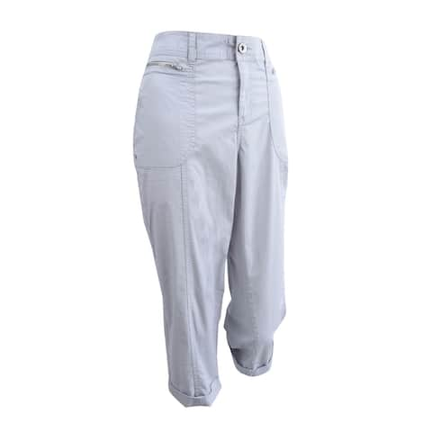 Style & Co. Women's Plus Size Zipper-Pocket Capri Pants
