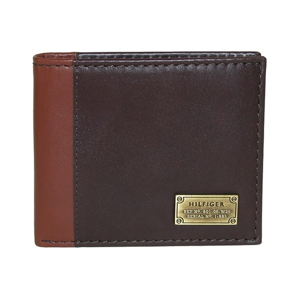 Tommy Hilfiger Men's Leather Melton Bifold Passcase Wallet - one size