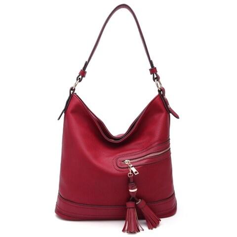 MKF Collection Elyza Vegan Leather Fashion Hobo Bag by Mia K. Farrow