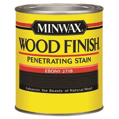 Minwax 22718 Ebony Interior Wood Stain Finish, 1/2 Pint