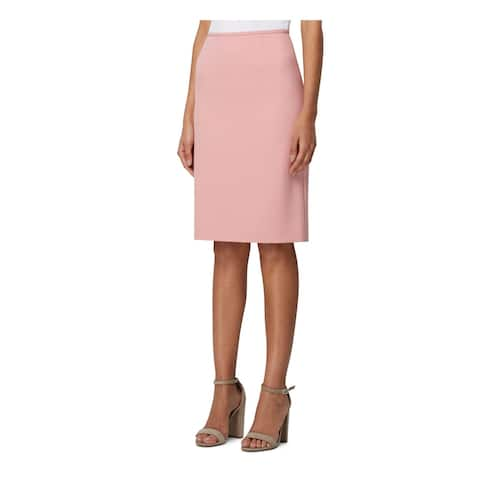 TAHARI Womens Pink Below The Knee A-Line Wear To Work Skirt Size 16