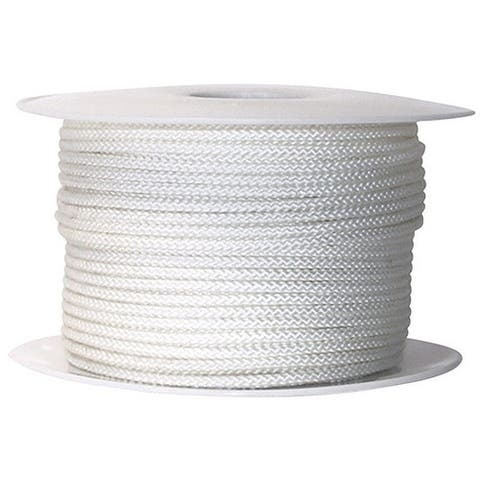 "Wellington N7409S0200S Braid Jacket Nylon Cord Spool, 9/64"" x 200', White"