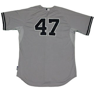 Ivan Nova Jersey  NY Yankees 2015 Game Used 47 Grey Cool Base Jersey HZ9208910000005523Size 50