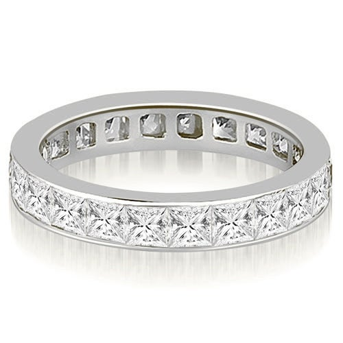 3.50 cttw. 14K White Gold Princess Channel Eternity Ring