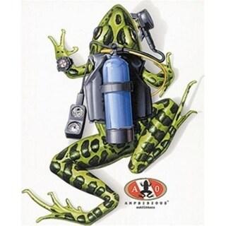 Amphibious Outfitters - Scuba Frog - White T-Shirt for Scuba Divers & Snorkelers