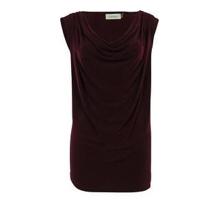 Calvin Klein Women's Basic Cowl Neck Jersey Blouse