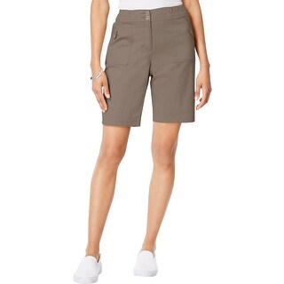 Karen Scott Womens Bermuda Shorts Comfort Waist Ribbed waistband - 6