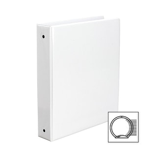 Avery Economy View Round Ring Binders For 8-1/2 x 11 in paper, 1-1/2 in, White, Holds 275 sheets