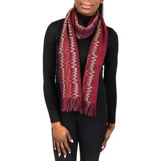 Missoni SC31WMU5171 0003 Red/Purple Wool Blend Womens Scarf