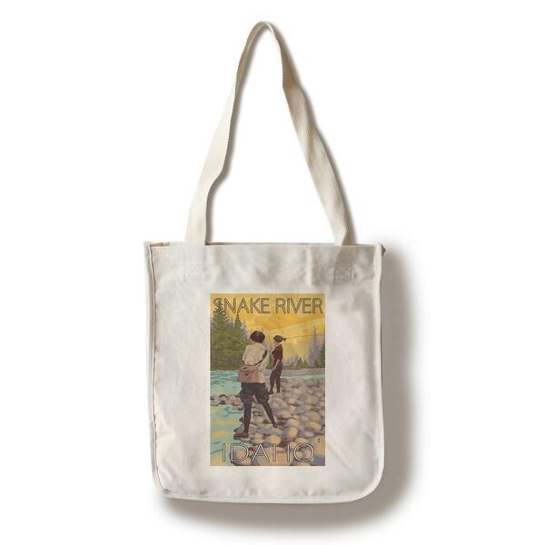 Shop Snake River ID - Women Fly Fishing - LP Artwork (100% Canvas ... 903e65cbe3