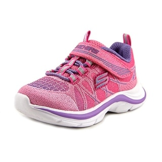 Skechers Girl Swift Kicks-Color Spark Toddler Round Toe Canvas Pink Sneakers