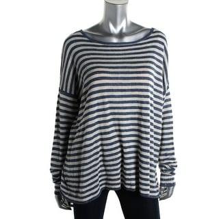 Lauren Ralph Lauren Womens Linen Striped Pullover Sweater - XL