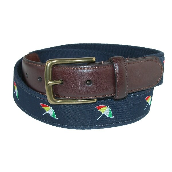 Arnold Palmer Men's Ribbon Inlay Golf Belt