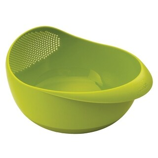 Joseph Joseph Prep and Serve Multi-Function Bowl with Integrated Colander, Large, Green