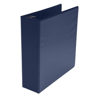 School Smart Polypropylene Round Ring View Binder, 3 Inch, Blue