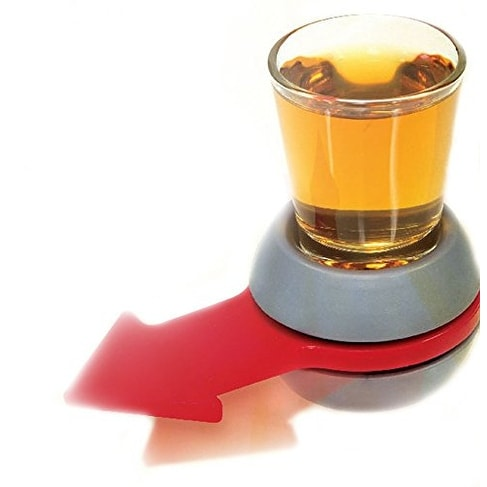 Palais Glassware Shot Spinner Drinking Game - with 2 Oz. Shot Glass