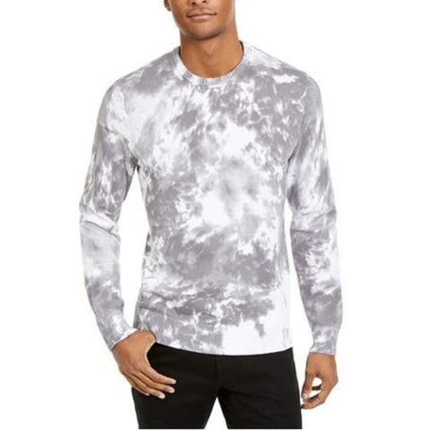 INC Men's Gnover Tie Dye Sweater White Size Extra Small