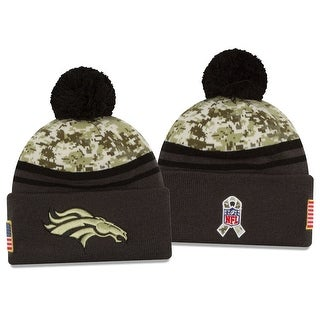 New Era NFL 2016-17 Salute to Services Digital Camo Knit Beanie Hat - Denver Broncos