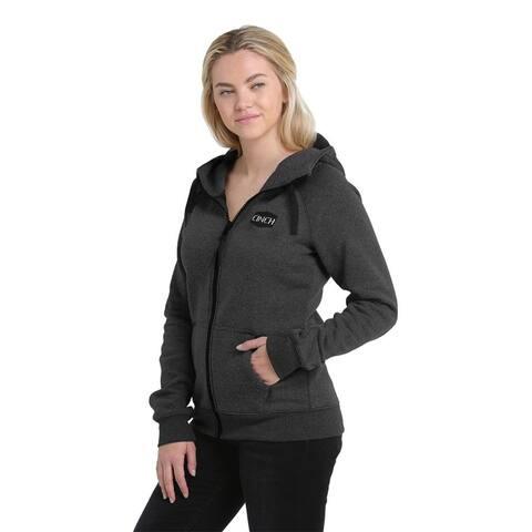 Cinch Western Sweatshirt Womens Zip Oversize Drawcords Logo