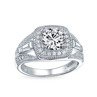 Link to 2CT Cushion Cut Solitaire 925 Sterling Silver Halo CZ Engagement Ring Similar Items in Rings