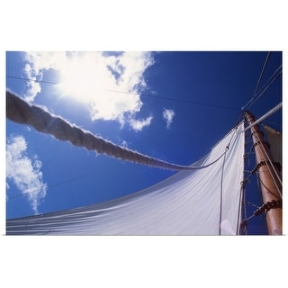 """sail of sailing boat"" Poster Print"