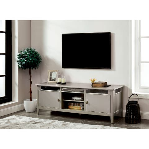 Furniture of America Nait 67-inch Multi-functional Storage TV Console
