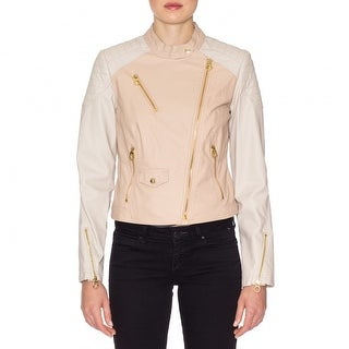 Laundry Faux Leather Zip Moto Jacket
