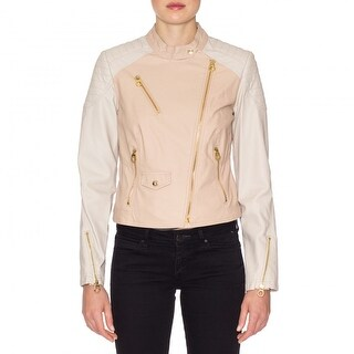 Laundry by Shelli Segal Faux Leather Zip Moto Jacket