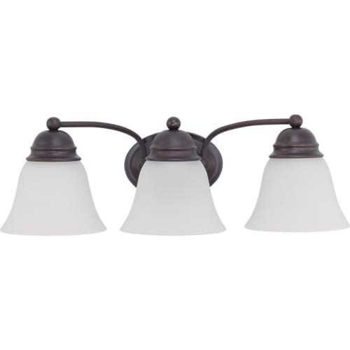 "Nuvo Lighting 60/3167 Empire 3 Light 20.5"" Wide Vanity Light with Frosted White Glass Shades"